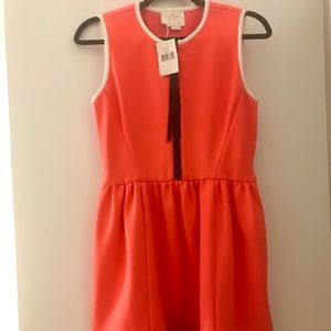 Kate Spade coral dress with pockets NEW